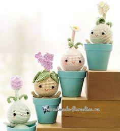 Луковичные цветы - куколки амигуруми (4)