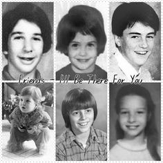 throwback: friends cast as kids! Friends Actors, Serie Friends, Friends Cast, Friends Episodes, Friends Moments, I Love My Friends, Friends Tv Show, Friends Forever, Best Friends