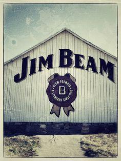 Jim Beam Bourbon American Distillery Stillhouse Barn Logo Brand