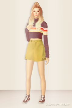 Always Sims: SHUNGA Urban Outfitters Cargo Mini Skirt - 4t2 - AF
