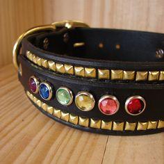 Black dog collar Leather dog collar Red dog collar dog collar SSC Personalized dog tag Blue dog Collar LL2 Silver dog collar