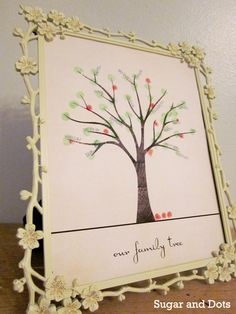 fingerprint family tree {from sugan & dots}: free template