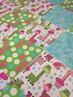 Owl Rag quilt, flannel baby blanket, embroidered owl and flowers ... : pre cut flannel rag quilt kits - Adamdwight.com