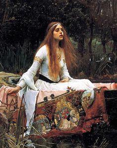 The Lady of  Shallot (detail) - John William Waterhouse