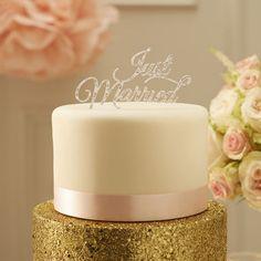 Just Married kakkukoriste hopea