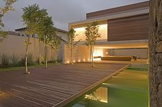 I like the mixture of decking with trees popping up