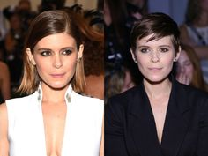 Stars love to switch up their look. From major dye jobs to cool cuts, these are the best hair makeovers of Celebrity Hairstyles, Cool Hairstyles, Kate Mara, Celebs, Women, Celebrities, Fancy Hairstyles, Celebrity, Famous People