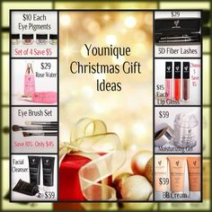 Here's some awesome and Younique Christmas gift ideas! Shop here!! www.youniqueproducts.com/audreywoodworth