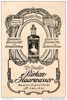 Original-Werbung/Inserat/ Anzeige 1912 - DR.DRALLE'S BIRKEN-HAARWASSER - ca. 70 X 110 mm