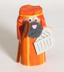 Toilet paper roll Bible characters