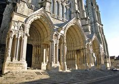 The North Portal (early 1200s) Chartres Cathedral, France - (source: paradoxplace.com)