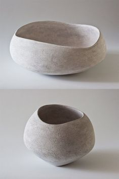 Lithic Collection at Maud & Mabel Minimalist white wabi sabi creamic sculpture for the home - The Lithic Series hand crafted by Yasha Butler Ceramic Bowls, Ceramic Pottery, Pottery Pots, Thrown Pottery, Slab Pottery, Porcelain Ceramics, Pottery Wheel, Ceramic Clay, Wabi Sabi