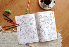 Anita Nemes - Budapest Palette colouring book http://www.magma.hu/muveszek.php?id=147