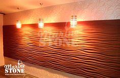 Мастерская MarineStone - Волна: Декоративные 3D панели  (рельефная плитка) из гипса от производителя в Иркутске, Ангарске