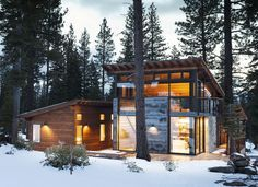 Marvelous Modern Mountain Home In Truckee, California is a Prefab Hybrid. - if it's hip, it's here