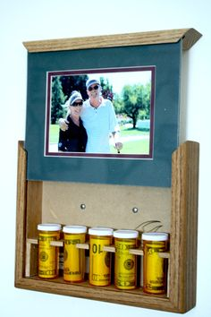 Handcrafted, Unique, Hide In Plain Sight Photo Frames. Made from Solid Red Oak, Double matted for your 5x7 picture. Frames Measure: 11 x 9 x 2 deep  When hanging on the wall they look like any other photo frame. Only you know what is behind the picture. Simply slide the top to reveal your hidden treasures.  We began making these while on the road in our RV. We had no place to hide our cash and other valuable items. We thought if someone is going to break in to an RV, the first thing they…