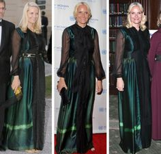 royalroaster:  Crown Princess Mette Marit repeating her Alberta Ferretti dress