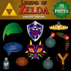 Legend of Zelda Photo Booth Props 21 by DigitalConfectionery