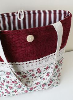 Bag with roses from cotton and tapestry   I like it very muc…   SandraStJu   Flickr