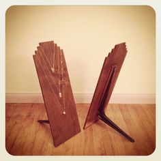 wooden jewelry displays - Google Search