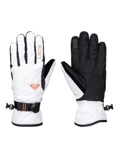 Roxy Jetty Solid Snow Gloves The nuts and bolts Polyester twill fabric - Insulation: - Insulation [170g] - Soft brushed tricot knit lining - Features: - Pre-shaped fit - Stretch cuff on the back - Adj