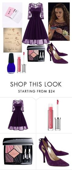 """""""Hannah Baker Prom"""" by barchie13 ❤ liked on Polyvore featuring It Cosmetics, Christian Dior, Joan & David and 13rw"""