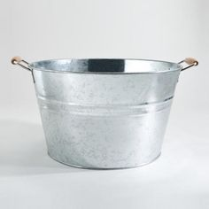 One of my favorite discoveries at WorldMarket.com: Galvanized Party Tub for my herb garden?