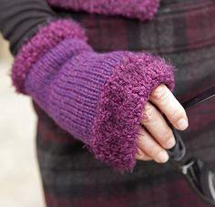 Free knitting pattern for Enrol Wrist Warmers and more hand warmer knitting patterns
