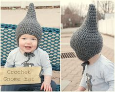 Lorajean's Magazine,: Tutorilal: How to crochet a baby gnome hat