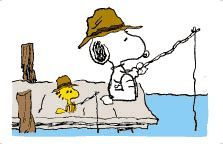 woodstock snoopy fishing - Google Search