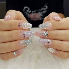 35 Classy Wedding Nail Art Designs For Brides - Bebeautylife The Effective Pictures We Offer You About wedding nails for bride floral A quality picture can tell you many things. You can find the most Wedding Manicure, Wedding Nails For Bride, Bride Nails, Wedding Nails Design, Nail Wedding, Sexy Nail Art, Sexy Nails, Glam Nails, Pink Nails