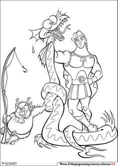 Dibujos de Hercules para Imprimir y Colorear