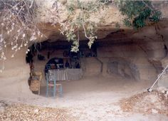 small cave in Cyprus holding religious items - photo by Karen Alley