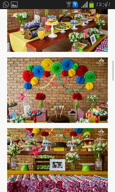 Festa colorida muito linda