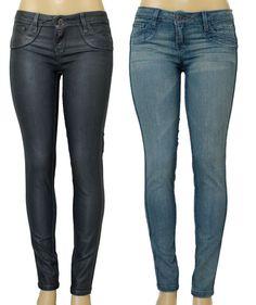 BLEULAB Jean Skinny Curve Legging Jegging Gray REVERSIBLE Granite Coat Blue 27 #Bleulab #SlimSkinny