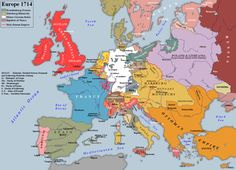 Europe in 1700 and 1714 DoctorWinstonOBoogie: ... - Maps on the Web