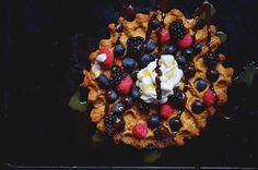 If you follow me on Twitter and Snapchat (HungryWelshGirl) you'd have seen I had a new waffle maker today and this is the result of said waffle maker  A peanut and coffee vegan waffle using last nights cake recipe but adapted ever so slightly ! I also added whipped coconut cream berries sugar free chocolate sauce and caramel sauce. It was SO GOOD  who even needs to go to @kaspasdesserts right?  #MyHealthyNotYours by thehungrywelshgirl