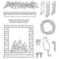 Festive Fireplace Photopolymer Stamp Set by Stampin' Up! Price: $21.00