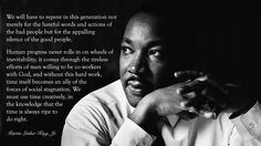May we never be silent about things that matter. Martin Luther King, Jr. #quote