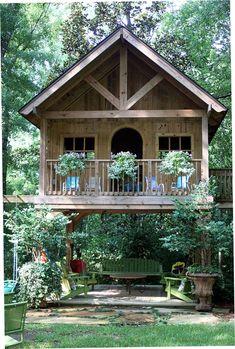 Backyard House, Backyard Landscaping, Landscaping Design, Backyard Pergola, Outdoor Pergola, Outdoor Dining, Dining Table, Shed Design, Tiny House Design
