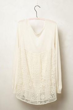 87c43d057d42 Averly Pullover #poachit Lace Back, Sweater Outfits, Anthropologie, Baby  Dolls, Knitwear