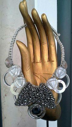 #mazzinidonnalugo #necklace #uniquehandmade  #vintagebuttons #pearls #doloresesimonettabijoux