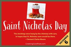 St. Nicholas Day is celebrated on December 6 so that mean you must prepare on December 5 by setting out your shoes in hopes of coins and candy. #SaintNick #StNicholasDay #hohoho National Celebration Days, Aus Day, St Nicholas Day, The Night Before, Fun Facts, Prayers, December, Learning, Quotes