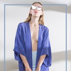Dont forget, we have new season silks instore and online! This is the Blue Chalk Silk Kimono, cool and light to layer over swimear and day wear this summer! #limedrop #melbourne #fashion #silk #kimono #summer