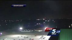 FAST MOVING CYLINDER UFO FILMED ON LIVE NEWSCAST ON OKLAHOMA CITY WEB CAM  CHANNEL 5 NEWS