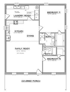 If you are going to build a barndominium, you need to design it first. And these finest barndominium floor plans are terrific concepts to begin with. Jump this is a popular article Custom Barndominium Floor Plans Pole Barn Homes Awesome. Barn House Plans, Shop House Plans, Cabin Plans, Small House Plans, House Floor Plans, 30x40 House Plans, Simple Floor Plans, Floor Plan With Loft, 2 Bedroom House Plans