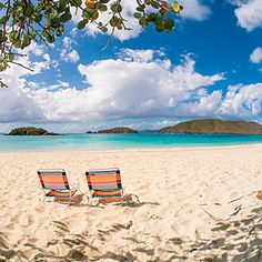 Grab your beach chairs for a beach day at Cinnamon Bay. This national park in St. John is the perfect spot for snorkeling, wind-surfing and camping.