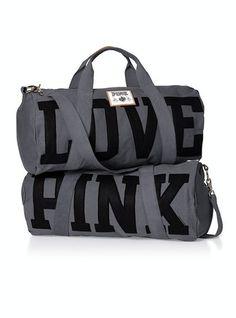 VS Pink Duffle (Grey and Black) Pink Nation bfa63a15caca8