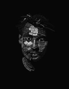 Johnny Depp typographic portrait by ~Leomosa on deviantART