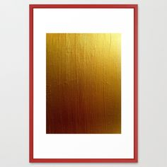 Gold Ombre by HMSinTO FRAMED ART PRINT / VECTOR RED LARGE  (GALLERY) (26 X 38) $152.00